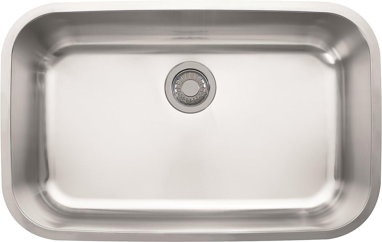 Franke OAX110 Oceania 29 15 16 x 18 15 16 x 8 7 8 18 Gauge Undermount Single Bowl Stainless Steel Kitchen Sink