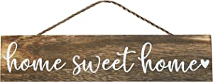 Apanda Wooden Home Sweet Home Sign Wall Hanger - Magnolia Welcome Sign Home Outdoor Wooden Wall Decor for Front Door Kitchen