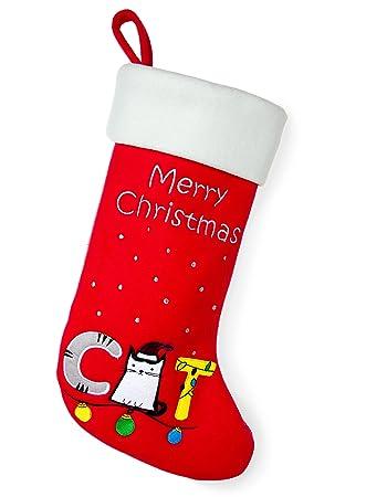 red bene family christmas stockings cat