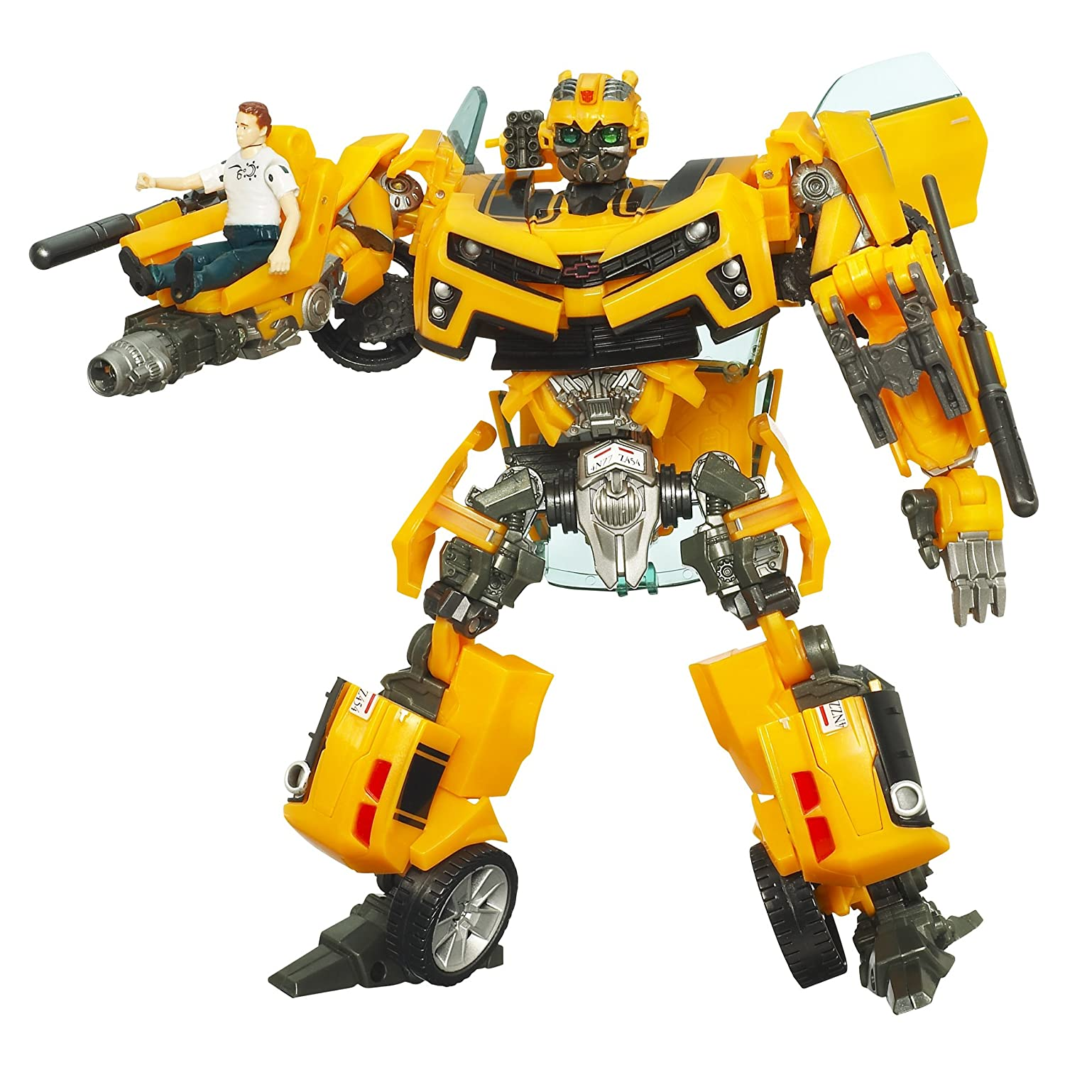 Transformers - 97771 - Human Alliance - Hunt for the Decepticons - Level 4 - Voyager Class - Bumblebee (ca. 15 cm) con Sam Witwicky (ca.
