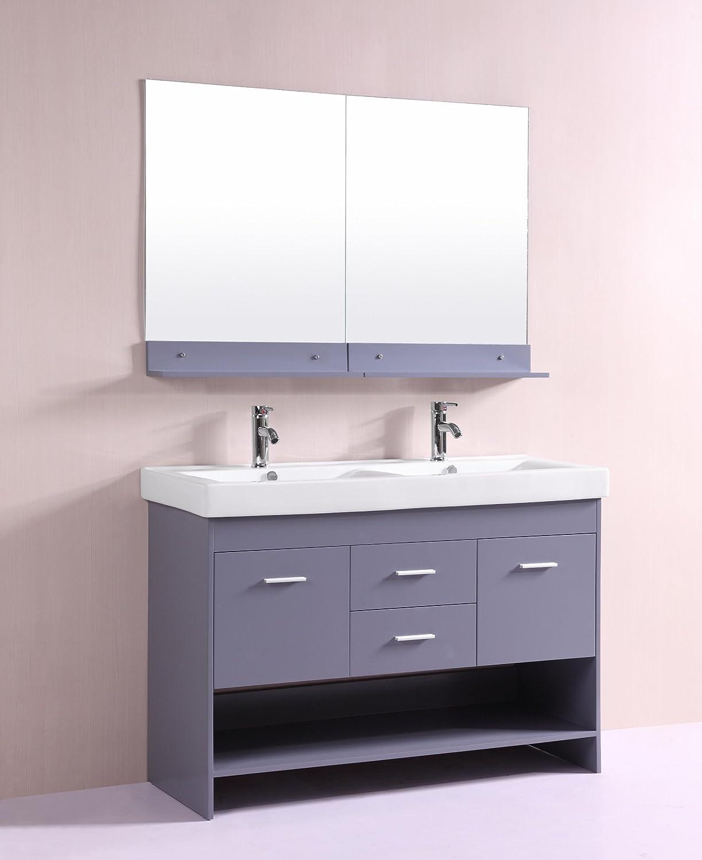 Eviva Evvn127 48gr Ds Totti Gloria 48 Double Sink Bathroom Vanity