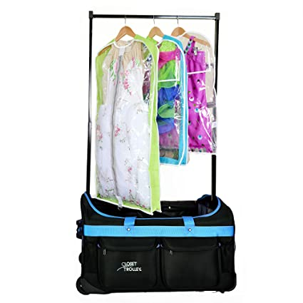 Dance Bag With Garment Rack Awesome Amazon Closet Trolley Dance Bag With Garment Rack BLUE DANCE