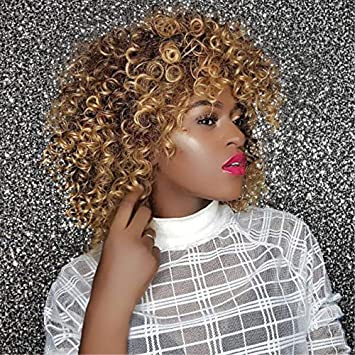 zhen show Kinky Curly Hair Wigs for Black