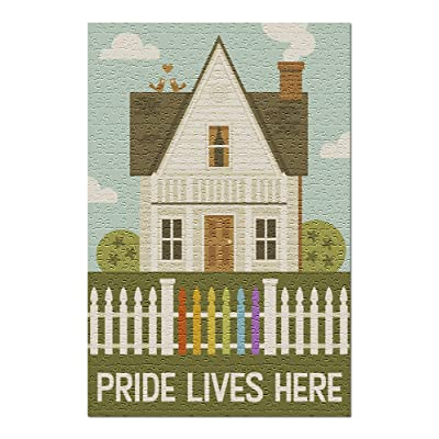 Gay Pride - Pride Lives Here (Premium 500 Piece Jigsaw Puzzle for Adults, 13x19, Made in USA!): Toys & Games