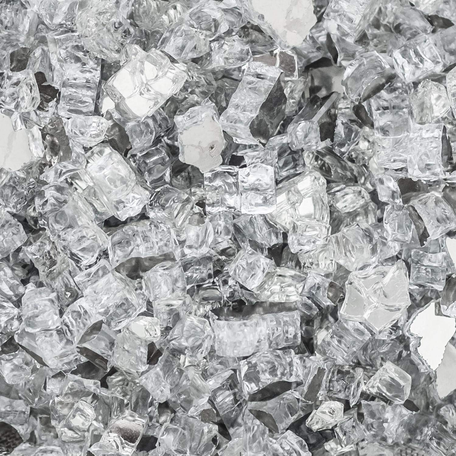 Lakeview Outdoor Designs 1/2-Inch Diamond Clear Reflective Fire Glass - 1 Pound