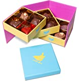 Jenny Wren BELGIAN CHOCOLATES - All Milk Collection Gift box 168g: 12 delicious Milk hand-finished Belgian Truffles and Chocolates. The perfect gift for Birthdays, Thank you presents and MOTHERS DAY!