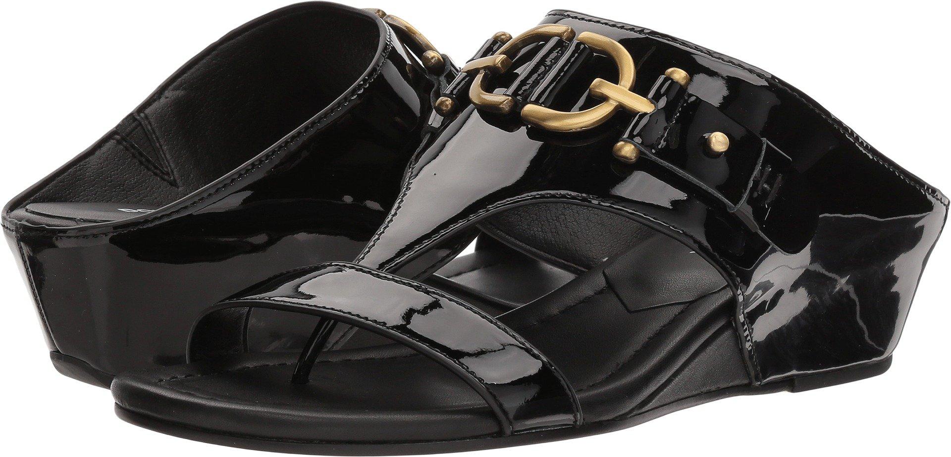 Donald J Pliner Women's Dayna Wedge Sandal, Black, 7.5 Medium US