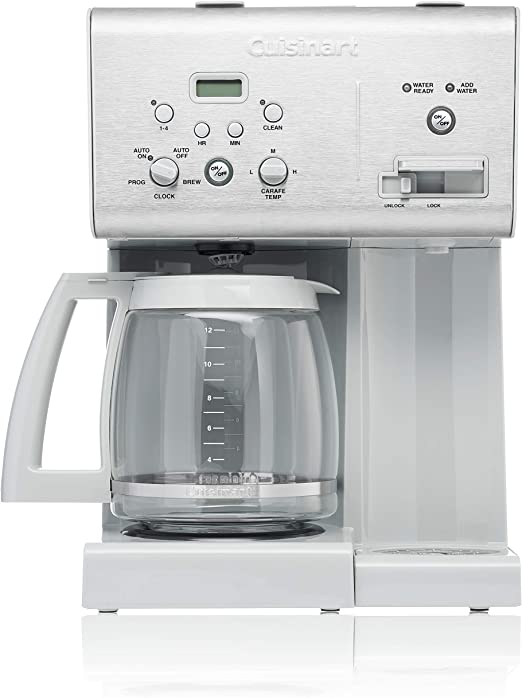 Amazon Com Cuisinart Chw 12cgr 12 Cup Programmable Coffeemaker Plus Hot Water System Light Grey Kitchen Dining