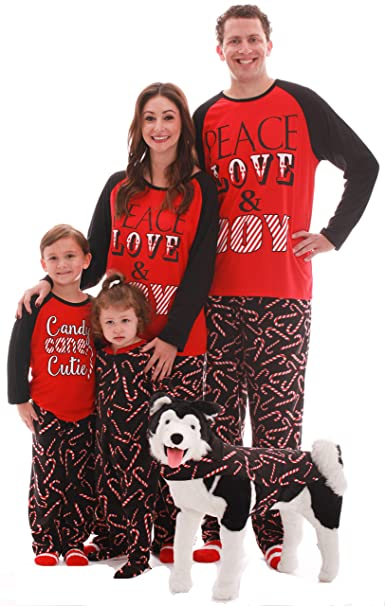 Christmas Pajamas For Dog.Followme Matching Christmas Pajamas For Family Couples Dog