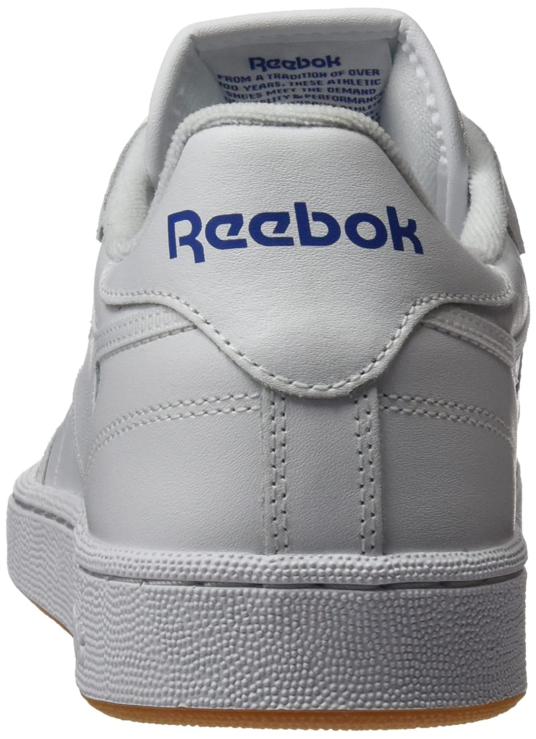 43022a211f2 Reebok Men s Club C 85 Ar0459 Low-top Trainers White (Intense White Royal- Gum) 12 UK  Buy Online at Low Prices in India - Amazon.in
