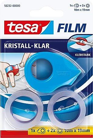 tesafilm kristall-klar 1 Rolle Klebeband 10m:19mm mit Abroller