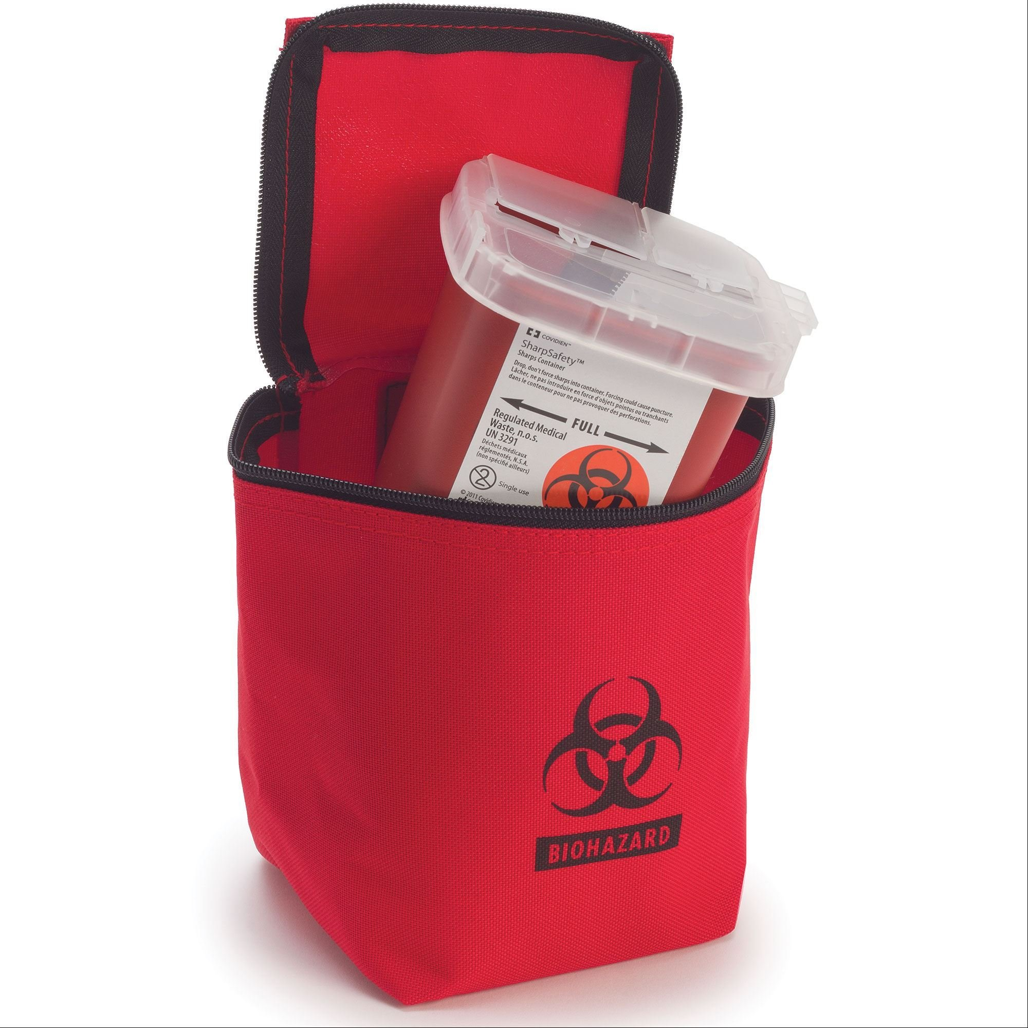 Hopkins Zippered Transport Pouch with Sharps Container by Hopkins Medical Products