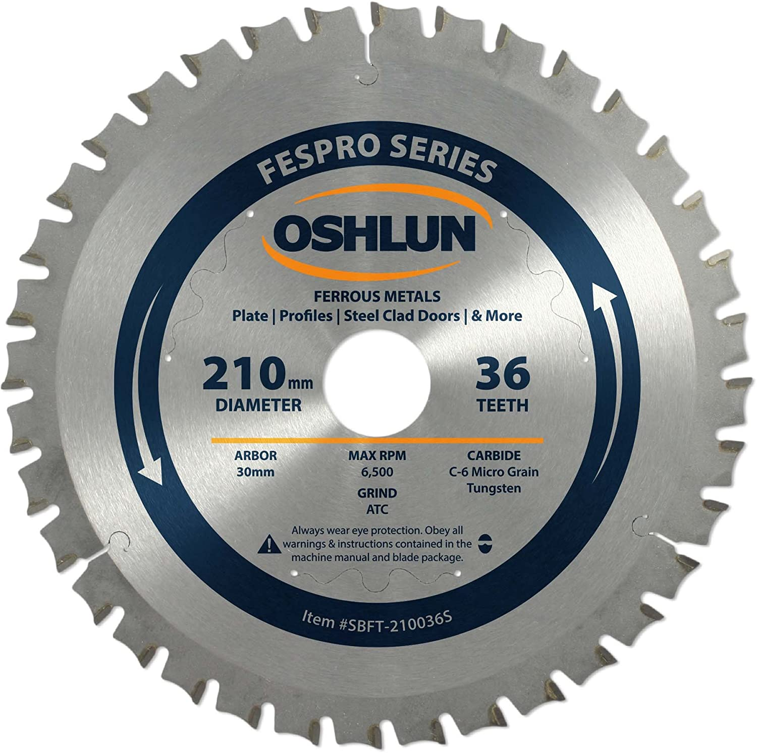 Oshlun SBFT-210036 210mm 36 Tooth General Purpose Blade Fespro