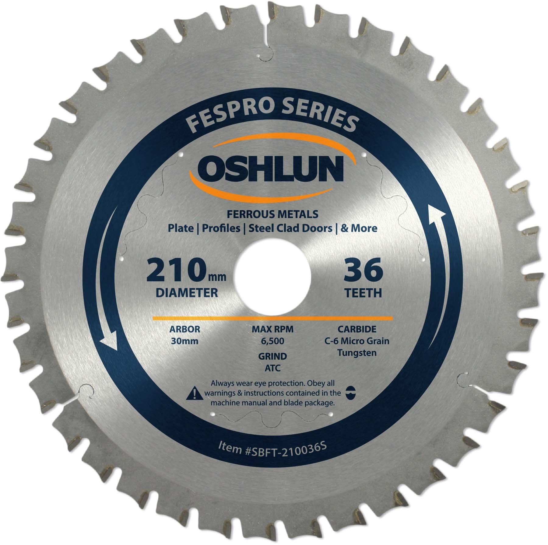Disco Sierra OSHLUN SBFT 210036S 210mm 36T FesPro Ferrous