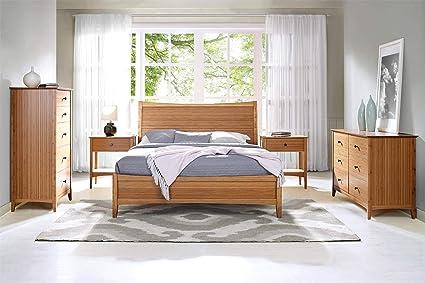 Charmant Greenington Willow 5 Piece Bamboo Bedroom Set (King Bed)