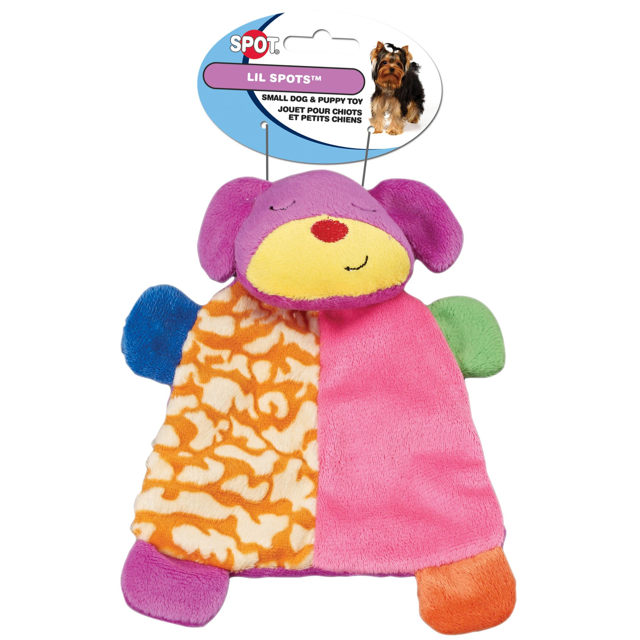 Spot Lil Spots Plush Blanket Toys for Small Dogs and Puppies Assorted 7