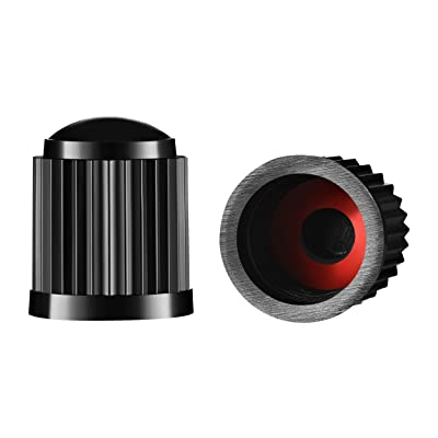 Valve-Loc Tire Valve Caps (25-Pack) Black, Universal Stem Covers for Cars, SUVs, Bike and Bicycle, Trucks, Motorcycles   Heavy-Duty, Airtight Seal   Screw-On, Easy-Grip Use (Black): Automotive