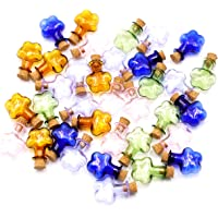 2ml Small Mini Glass Bottles Jars with Cork Stoppers.Wishing bottle drifting bottle wedding party DIY Etc. (M-20Pcs)
