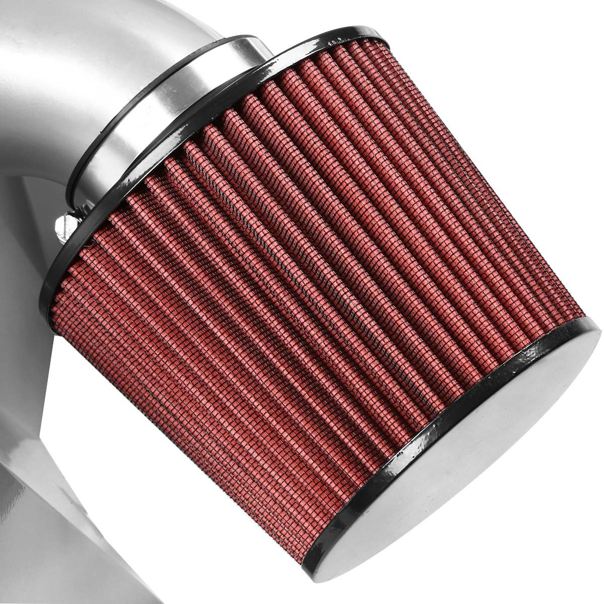 For 99-03 Nissan Frontier Xterra 3.3L AIP-2-HS-NF9933L-SLSL DNA Motoring AIP2HSNF9933LSLSL Cold Air Intake Pipe+Heat Shield System