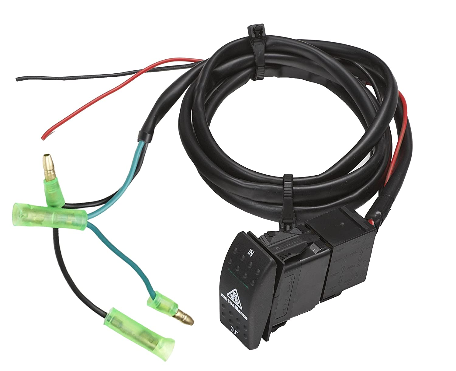 81SXimeEPqL._SL1500_ amazon com viper atv utv winch custom flush mount dash switch viper winch wiring diagram at crackthecode.co