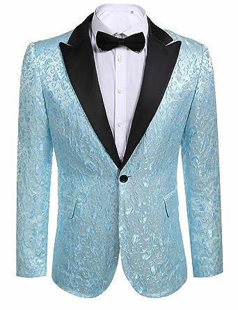 JINIDU Men\'s Floral Party Dress Suit Stylish Dinner Jacket Wedding ...