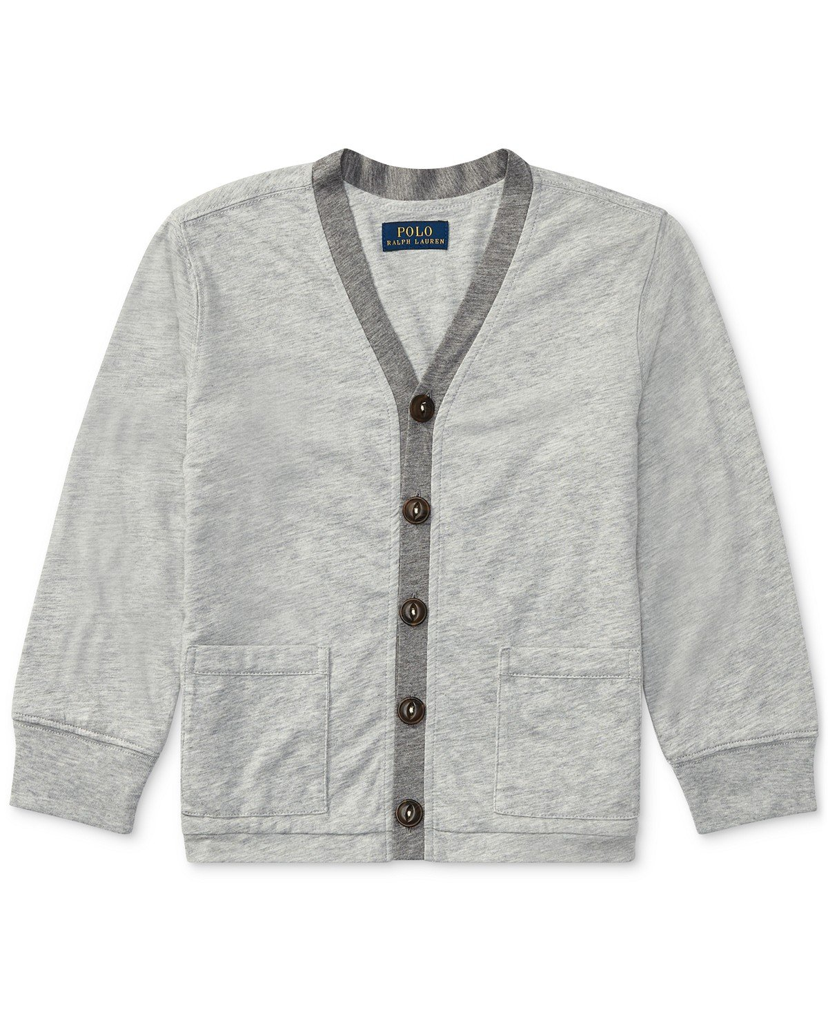 Polo Ralph Lauren Boys' 2T-20 Jersey Cardigan Knit Top (Medium 10-12)