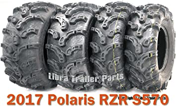 Full set of ITP Mud Lite XL 27x9-12 and 27x12-12 ATV Tires 4