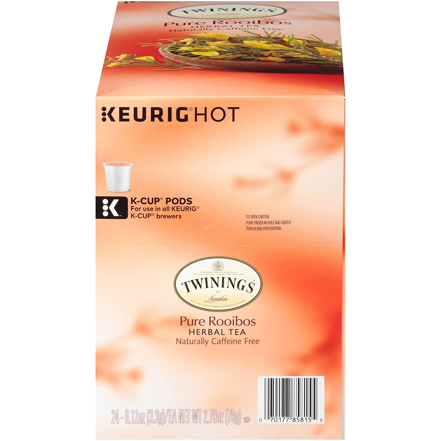 Twinings of London Pure Rooibos Herbal Tea K-Cups for Keurig, 24 Count
