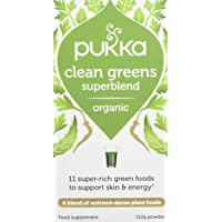 Pukka Herbs Clean Greens Powder, Organic Blend with Nettle, Kale Sprouts & Wheat Grass, 112g