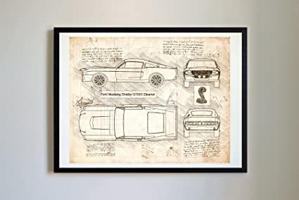 Amazon.com: DolanPaperCo #268 Ford Mustang Shelby GT500 Eleanor 1967 ...