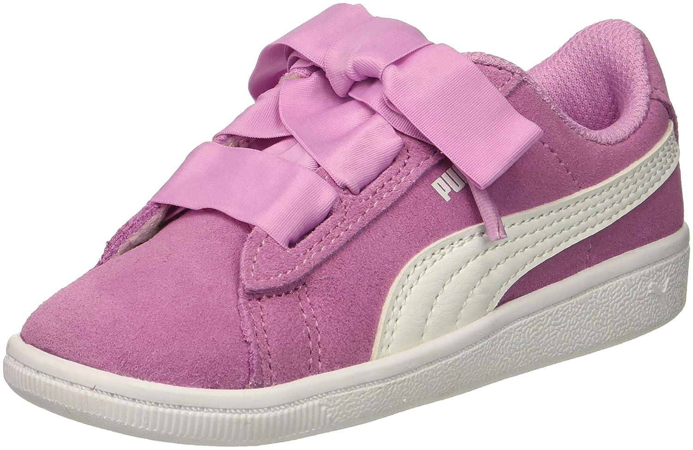 d9360249e5 Amazon.com | PUMA unisex-baby Vikky Ribbon Ac Kids Sneaker | Sneakers
