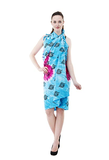 cd979b999d Image Unavailable. Image not available for. Color: The Indian Craft Tie Dye  Colorful Fouta Towel - Cotton Peshtemal Womens Beach Swimsuit Wrap Around