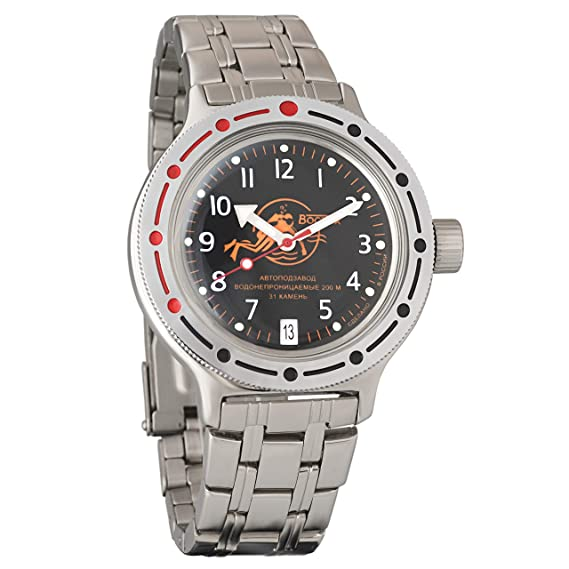 Vostok Amphibian 420380 Ruso Militar reloj 2416b 200 m auto Scuba Dude: Amazon.es: Relojes