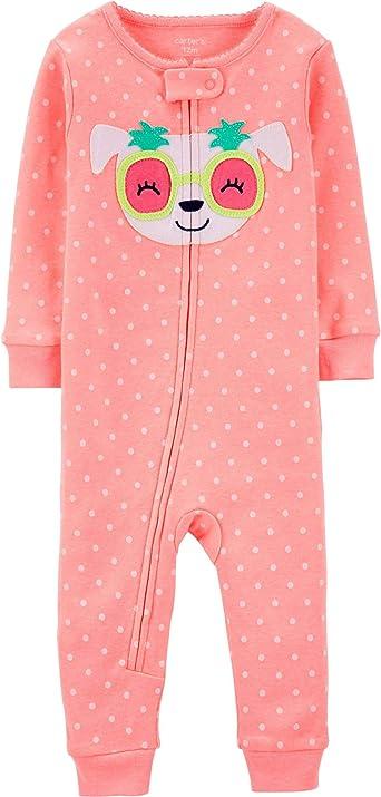 Carters Pijama de algodón sin pies para bebé y niña, 1 pieza ...