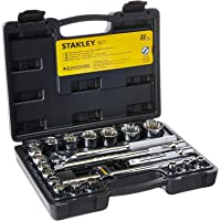 STANLEY Jogo de Soquetes 1/2 Pol. com 22 Peças 8 a 22mm STMT81242-840
