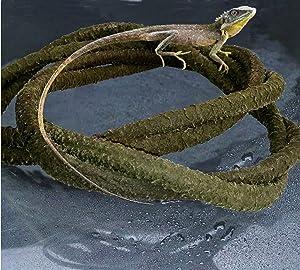 KERUIDENG Solid Bendable Reptile Vines Decor for Climbing,Flexible Bend Jungle Vines Pet Habitat Decor Plant for Gecko Chameleon Climbing Lizards Snakes and More Reptiles (6.5ft Long)