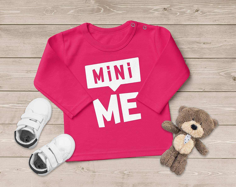 MoonWorks/® Baby Langarmshirt Mini-Me Babyshirt Jungen M/ädchen Shirt Bio-Baumwolle