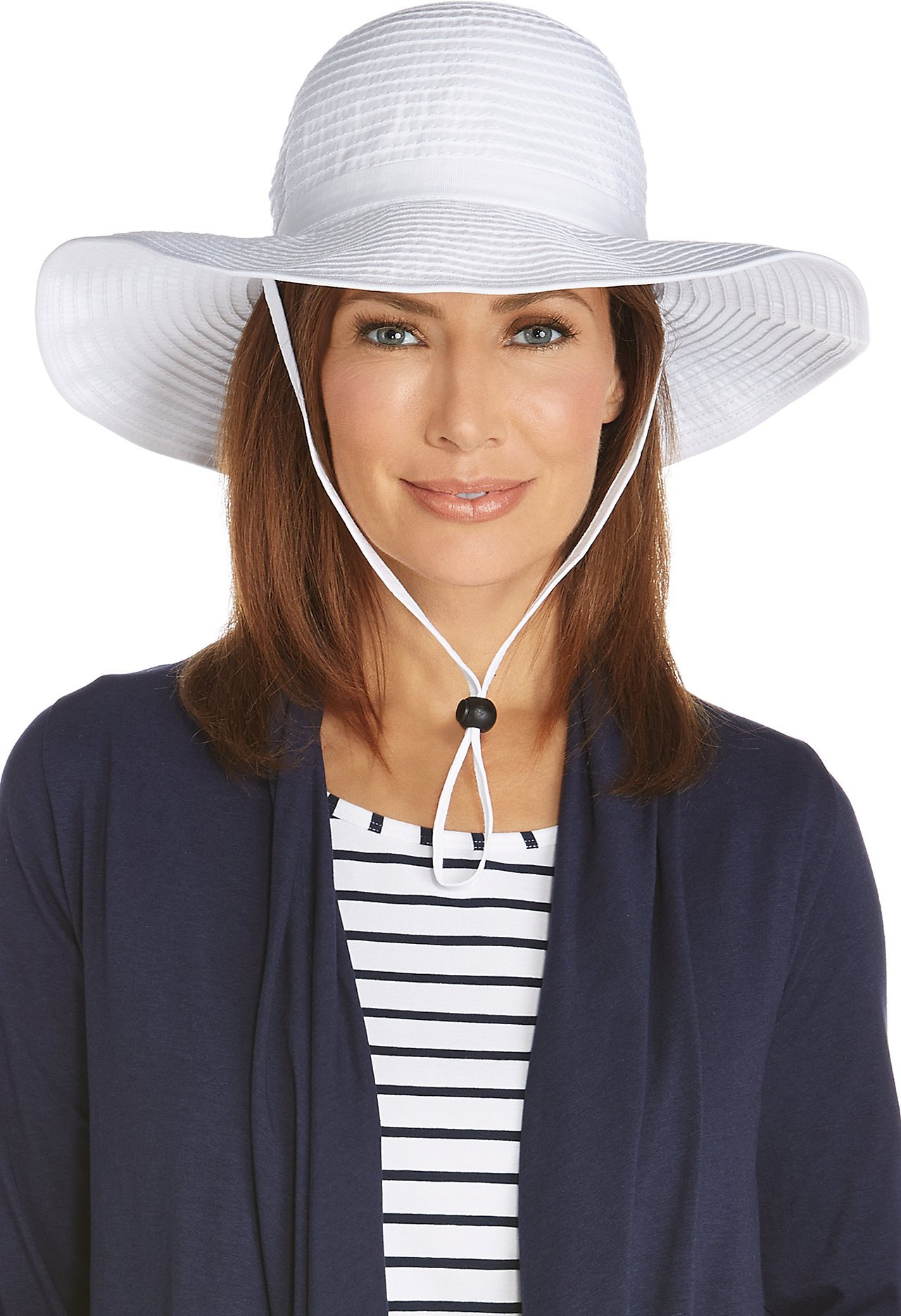 Coolibar UPF 50+ Women's Shapeable Travel Sun Hat - Sun Protective (One Size- White)