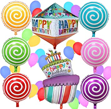 Amazoncom Happy Birthday Balloons Birthday Party Decorations