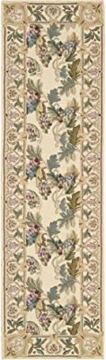 "Nourison Country Heritage (H582) Beige Runner Area Rug, 2-Feet 3-Inches by 8-Feet  (2'3"" x 8')"