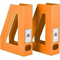 Acrimet Organizador de Revistas y Documentos Plastico (Revistero) (Color Naranja) (2 Unidades)