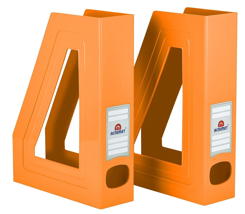Acrimet Magazine File Holder (Orange Color) (2 Pack) 277.L.C
