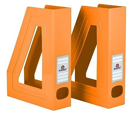Amazon Acrimet Magazine File Holder Orange Color 40 Pack Adorable Orange Magazine Holder