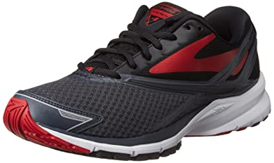 Brooks Men's Launch 4 Anthracite/Black/High Risk Red 8 D US