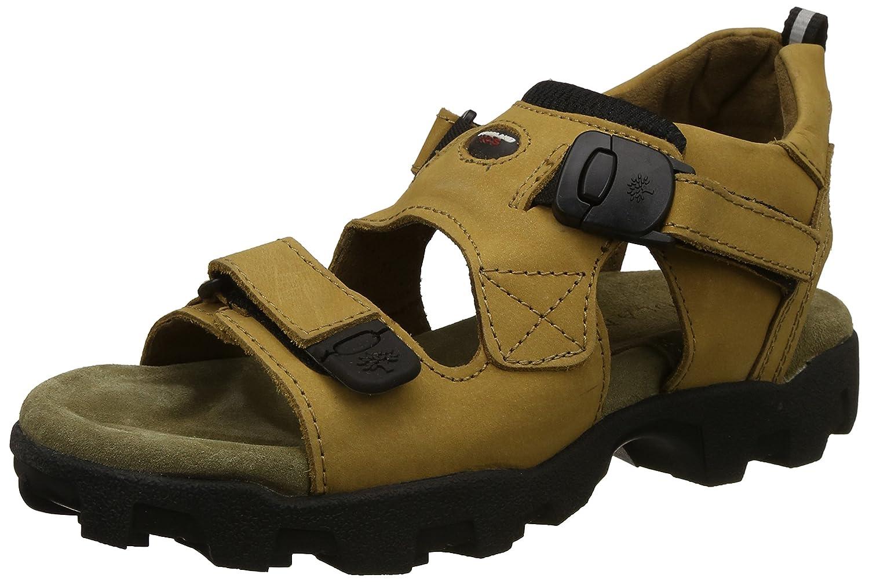 Woodland Men's Camel Leather Sandals