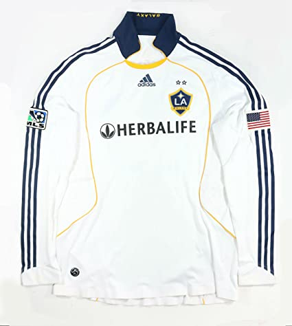 quality design 8c624 a51b1 DAVID BECKHAM GAME USED MLS LA GALAXY HOME LONG SLEEVE ...