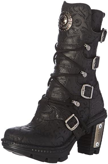 5815 S10, Bottes Motardes Femmes, Noir (Black), 39 EUNew Rock