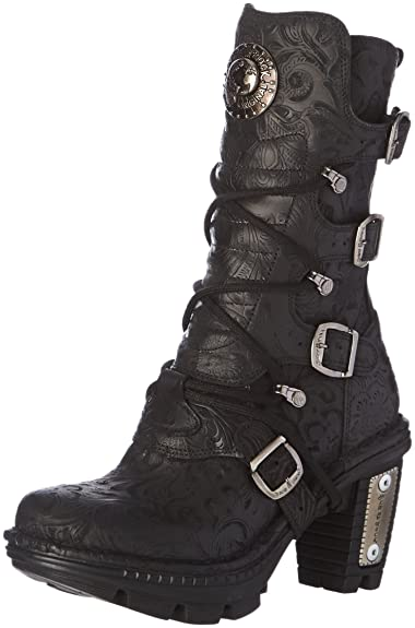 Neotr005 S25, Bottes Motardes Femmes, Noir (Black), 39 EUNew Rock