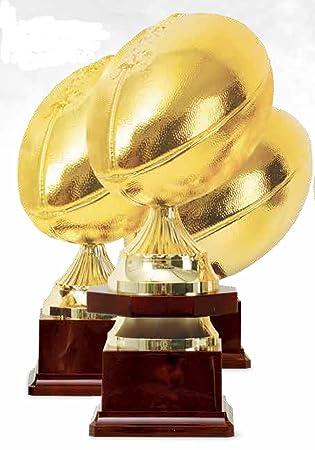 Trofeo Balón Rugby dorado - H cm 40 - Manivela - Made in italyc ...