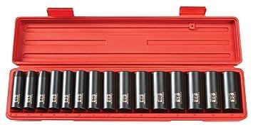 6-Point TEKTON 1//2-Inch Drive Shallow Impact Socket Set 11 mm Cr-V Metric
